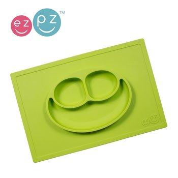 EZPZ, Talerz z podkładką 2w1, Happy Mat, Zielona-EZPZ