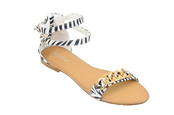 Family Shoes, Sandały damskie, Zebra, rozmiar 37-Family Shoes