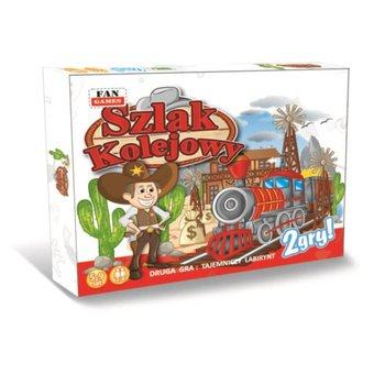 Fan, gra rodzinna 2w1 Szlak kolejowy i Labirynt drogowy
