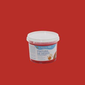 Farba do malowania palcami, 100 ml, czerwona-La Pajarita
