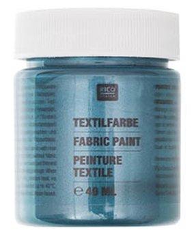 Farba do tkanin, 40 ml, Petrol Perłowy