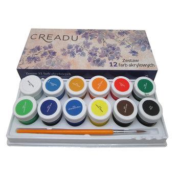 Farby Akrylowe 12 Kolorow Creadu Sklep Empik Com