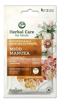 Farmona, Herbal Care, maseczka rozświetlająca do twarzy Miód Manuka, 2x5 ml-Farmona