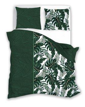 FARO, Trendy, Pościel bawełniana 160x200+2x70x80, Monstera-Faro