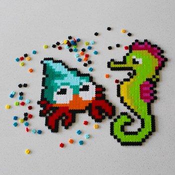 Fat Brain Toys, puzzelki Pixelki Jixelz Zwierzęta morskie-Fat Brain Toys