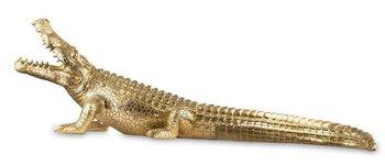 Figurka PIGMEJKA Krokodyl, złota, 29x93x27 cm-Pigmejka