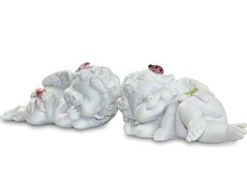 Figurka Wesoły Anioł Leżący na Boku, wys.4cm-Pigmejka