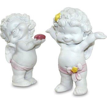 Figurka Wesoły Aniołek,z Kolorowymi Akcentami,h:8-9cm-Pigmejka