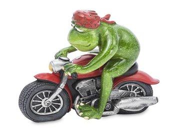 Figurka Żaba Motocyklista na motorze wys. 11 cm-Pigmejka