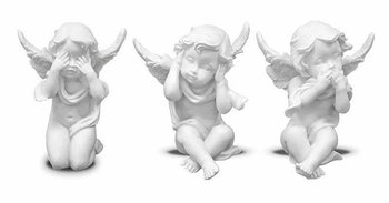 Figurka Zaskoczony Aniołek Biały 7.5 x 5.5 cm-Pigmejka
