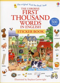 First Thousand Words in English. Sticker Book-Amery Heather