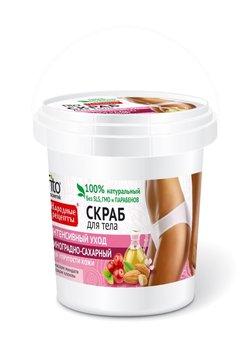 Fitocosmetics, Przepisy Ludowe, scrub do ciała winogronowo-cukrowy pielęgnujący, 155 ml-Fitocosmetics