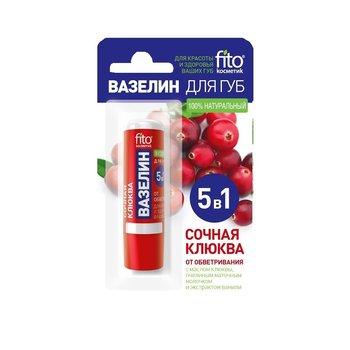 Fitocosmetics, wazelina do ust Soczysta Żurawina, 4,5 g-Fitocosmetics