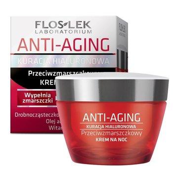 Floslek, Anti-Aging Kuracja Hialuronowa, krem przeciwzmarszczkowy na noc, 50 ml-Floslek