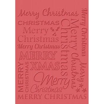 Folder do embossingu, Merry Christmas
