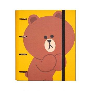 Folder do przechowywania dokumentów, Line Friends, miś, żółty-Line Friends