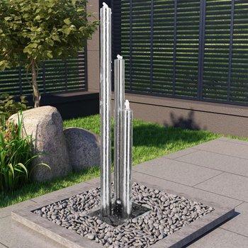 Fontanna ogrodowa, srebrna, 48x34x153 cm, stal nierdzewna-vidaXL