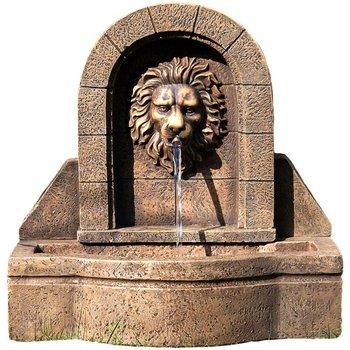 Fontanna ogrodowa STILISTA, Głowa Lwa, brązowa, 50x29x54 cm-Stilista
