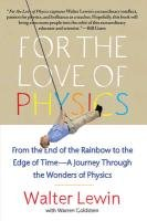 For the Love of Physics-Lewin Walter H.G.