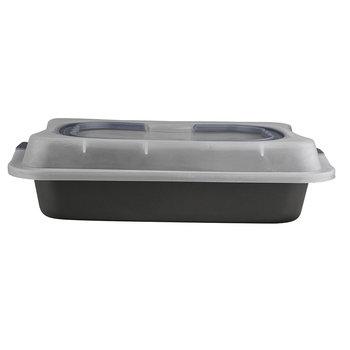 Forma do ciasta z pokrywą i uchwytem ALTOMDESIGN, czarna, 36,3x24,5x5,5 cm-Altom
