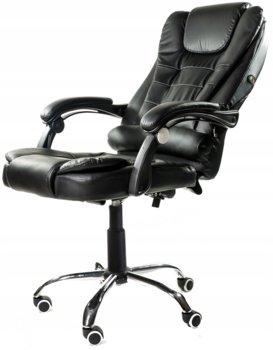 Fotel biurowy ELGO, czarny, 127x51x52 cm-ELGO