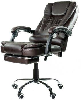 Fotel biurowy ELGO P, ciemnobrązowy, 127x51x52 cm-ELGO