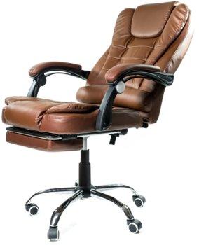 Fotel biurowy ELGO P, jasnobrązowy, 127x51x52 cm -ELGO