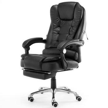 Fotel biurowy ELGO P/M, czarny, 127x51x52 cm-ELGO