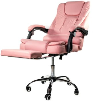 Fotel biurowy ELGO P, różowy, 127x51x52 cm-ELGO