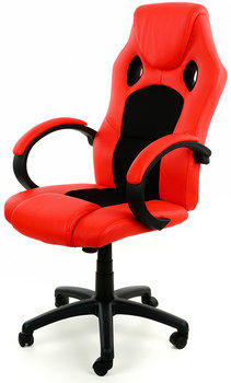 Fotel biurowy FUNFIT HOME&OFFICE XRacer PRO, czerwono-czarny-FUNFIT HOME&OFFICE