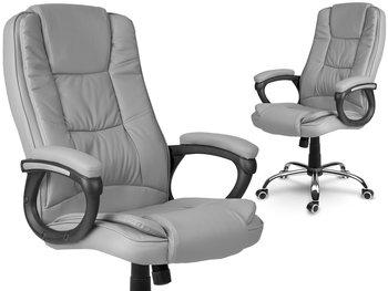 Fotel biurowy skórzany Porto szary Sofotel-SOFOTEL