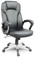 Fotel biurowy skórzany SOFOTEL EG222, czarny -EAGO