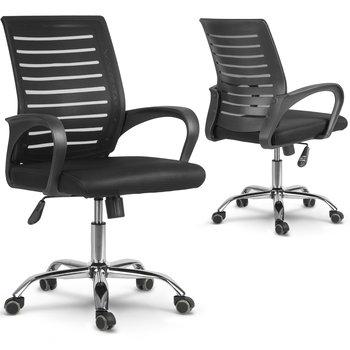 Fotel biurowy SOFOTEL Batura, czarny,101x56x56 cm-SOFOTEL