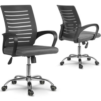Fotel biurowy SOFOTEL Batura, szary,101x56x56 cm-SOFOTEL