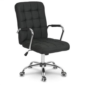 Fotel biurowy SOFOTEL Benton+, czarny, 105x51x66 cm-SOFOTEL