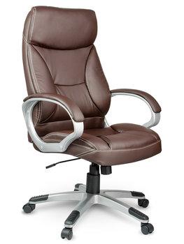 Fotel biurowy SOFOTEL EG223, brązowy -SOFOTEL