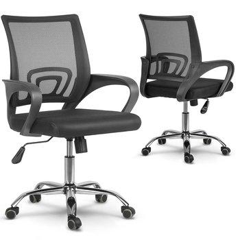 Fotel biurowy SOFOTEL Latok, czarny, 90-100x56x56 cm-SOFOTEL