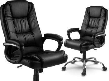 Fotel biurowy SOFOTEL Porto, czarny, 125x60x55 cm-SOFOTEL