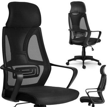 Fotel biurowy SOFOTEL Praga czarny, 128x64x46 cm-SOFOTEL