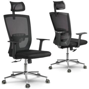 Fotel biurowy SOFOTEL Rimo, czarny, 131x66x66 cm-SOFOTEL