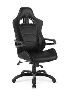 Fotel gabinetowy ELIOR Demos, czarny, 75x64x110-118 cm-Elior