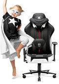 Fotel gamingowy DIABLO CHAIRS X-Player 2.0 Kids Size, biało-czarny, 120x65x63 cm-Diablo Chairs