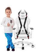 Fotel gamingowy DIABLO X-Horn Kids Size, biało-czarny, 126x67x62 cm-Diablo Chairs