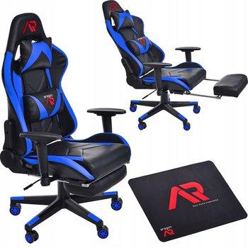 Fotel gamingowy JUMI Aragon, niebiesko-czarny, 140x54x55 cm-JUMI