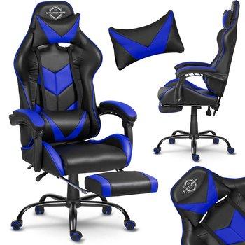 Fotel Gamingowy SOFOTEL Cerber, czarno-niebieski, 135x70x49 cm-SOFOTEL