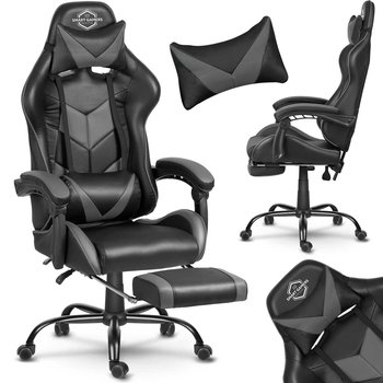 Fotel Gamingowy SOFOTEL Cerber, czarno-szary, 135x70x49 cm-SOFOTEL