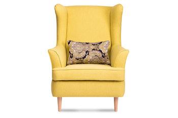 Fotel KONSIMO Stralis, żółty, 82x108x80 cm-Konsimo