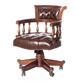 Fotel obrotowy DEKORIA Sherlock, brązowy, 90×75×60 cm -Dekoria
