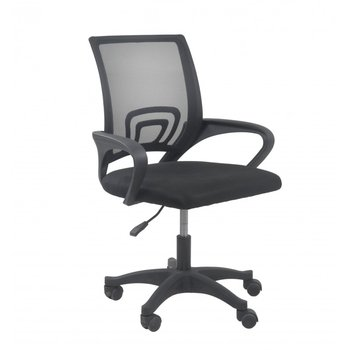 Fotel obrotowy TOPESHOP moris, czarny, 92x59x48 cm-Topeshop