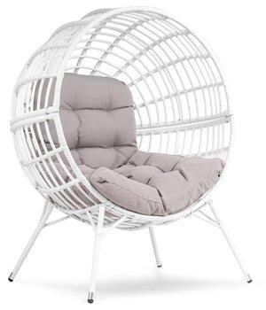 Fotel ogrodowy Kula DIVOLIO Arancia, biały, 95x125 cm-DiVolio